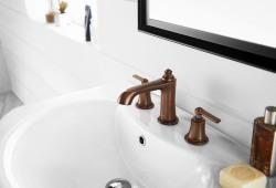 Flova Liberty oil rubbed bronze 3 hole basin mixer LI3HBAS-ORB