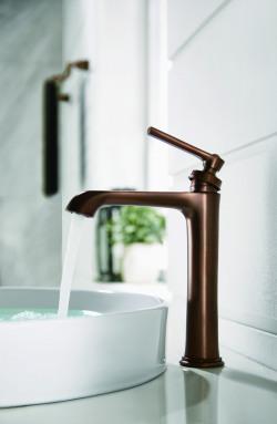 Flova Liberty oil rubbed bronze tall basin mixer LITBAS-ORB-