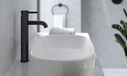 Crosswater MPro matt black tall basin mixer