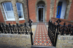 Victorian path tiling original style