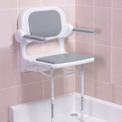 AKW Series 2000 folding shower chair grey
