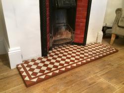 Dorchester hearth tiling Victorian original style
