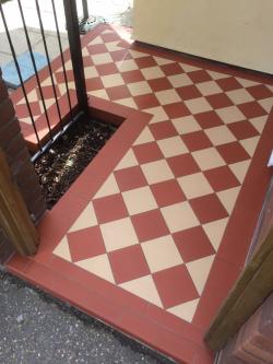 Victorian step porch Dorchester pattern original style