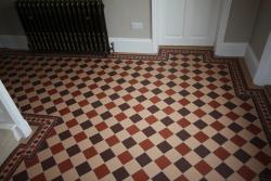 Dorchester 3 colour pattern original style Victorian hallway
