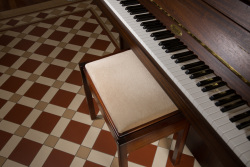 Victorian floor tiling Falkirk pattern Melville border