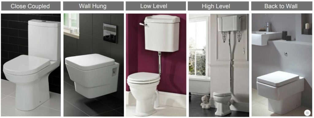 The different types of toilet