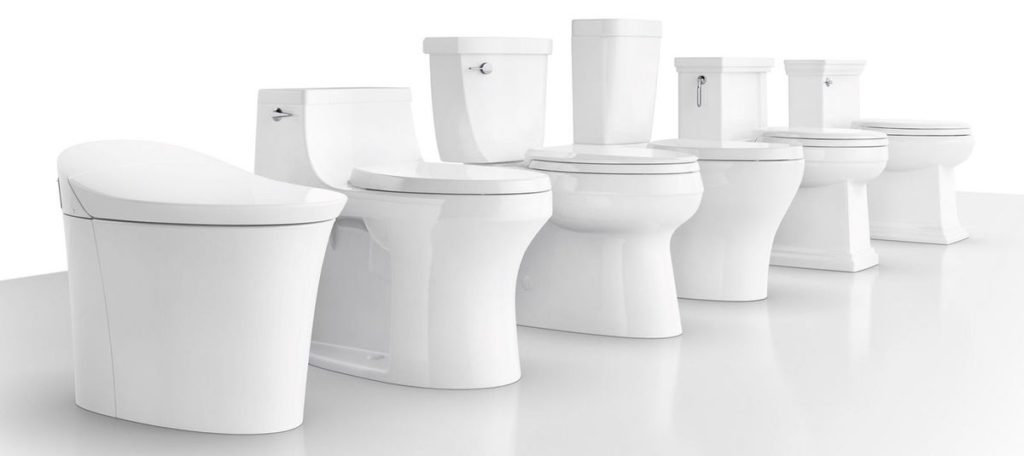 Different styles of WC