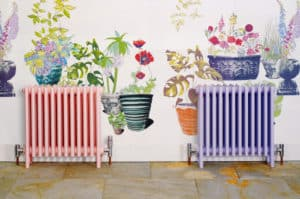 Bisque Classic radiators pink and lilac colour matched