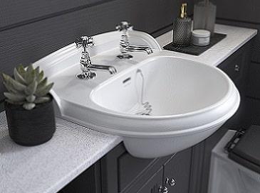 Heritage Dorchester semi recessed basin