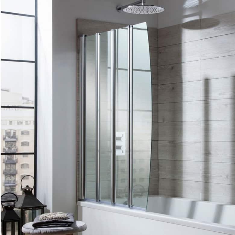 Crosswater foldaway 4 panel bath screen