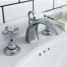 Heritage Gracechurch 3 hole basin mixer bathroom taps