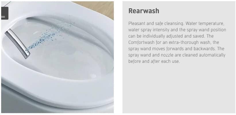 Rear wash