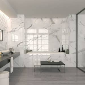 Hollywood white carrara marble tile