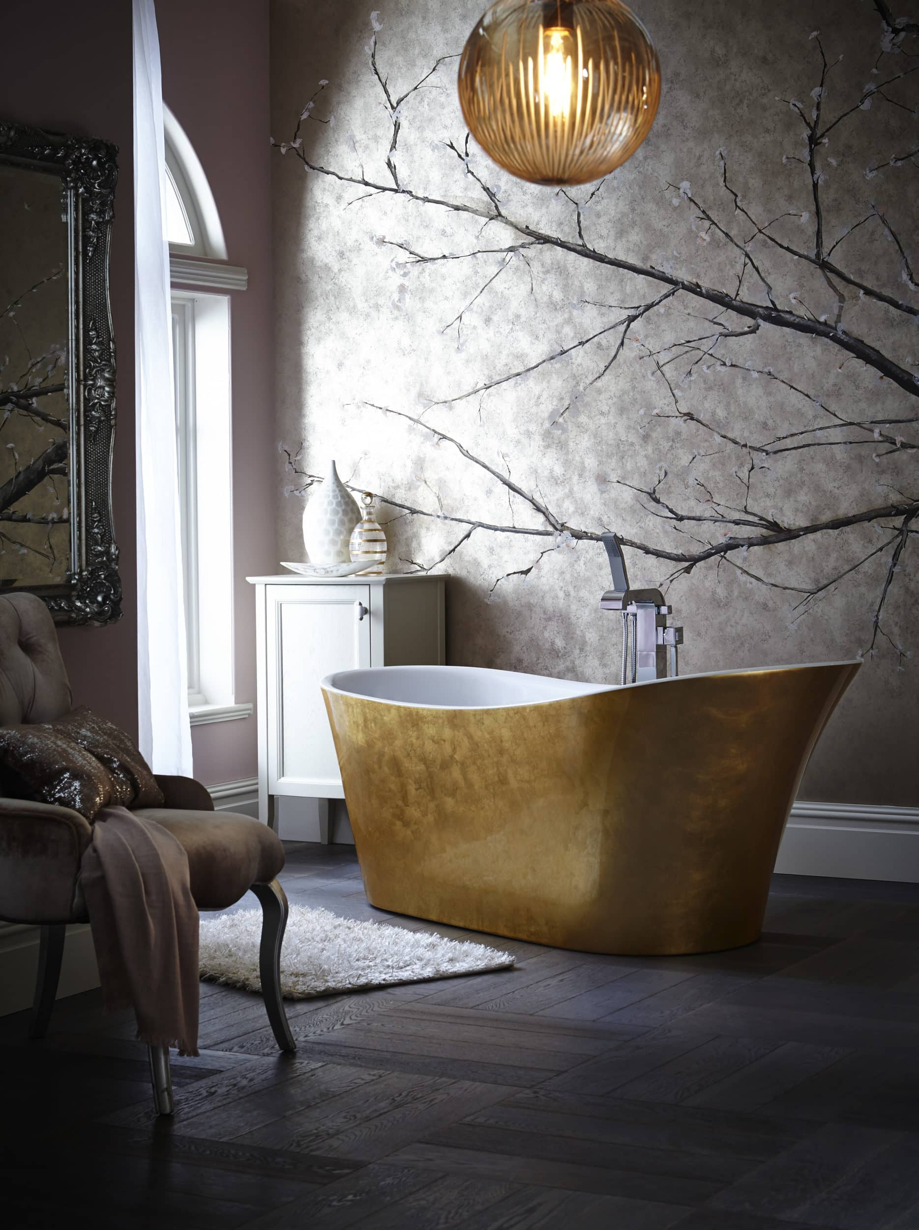 Holywell Metallic Efftect Copper Bath