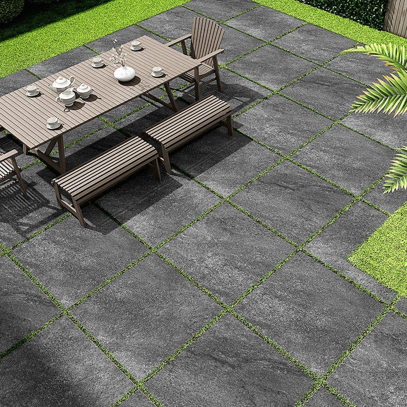 Hammer stone nero exterior tile 2cm 20mm