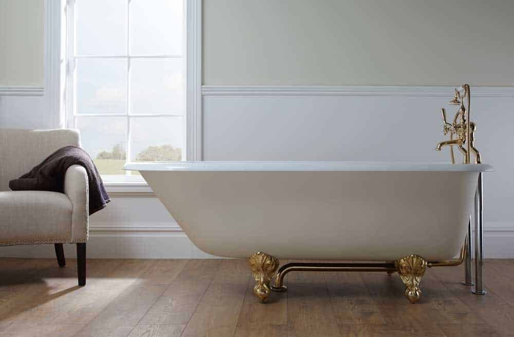 Imperial Waldorf Cast Iron Single Ended Bath