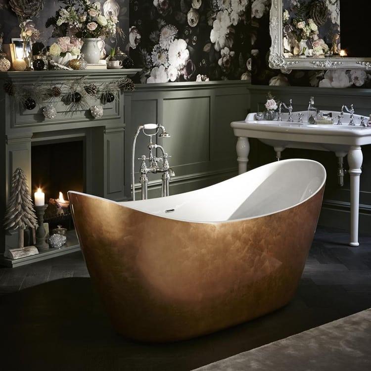 Heritage Hylton Copper Effect Bath