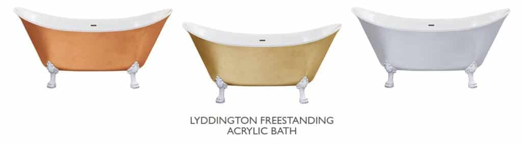 Heritage Lyddington Copper Effect Bath