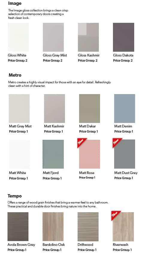 Eco Bathroom Furniture colour range