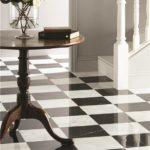 Earthworks Nero & Viano white marble chequerboard