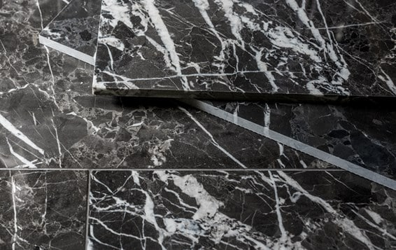 Marble noir polished