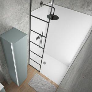 Ambiance Bain Altima shower tray wall panels matt white