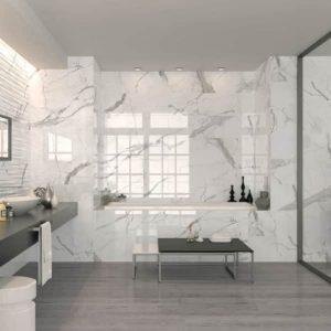 Hollywood white carrara marble tile