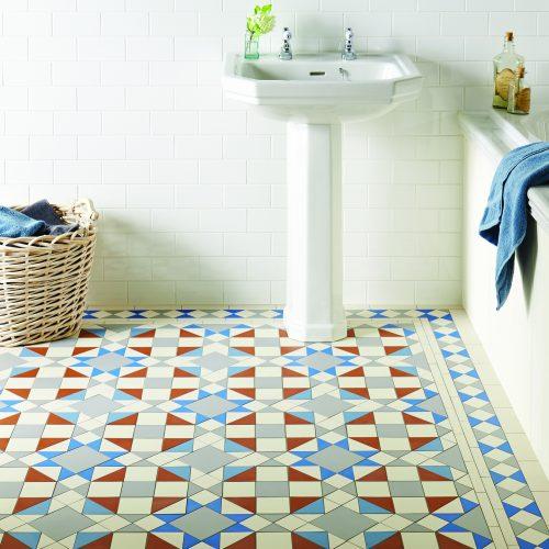 Victorian floor Eltham kingsley border pugin blue dover white