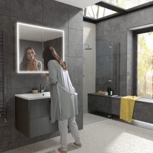HIB Qubic 80 mirror cabinet