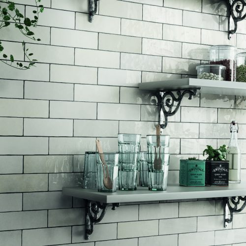 Whinfell Artisan white neutral wall tile